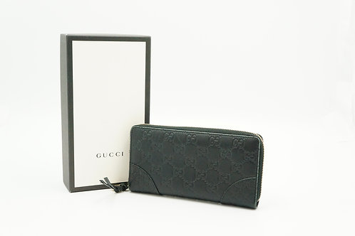 Gucci Guccissima Long Wallet in Black Leather
