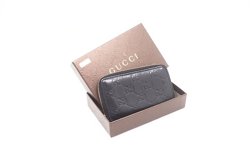 Gucci Guccissima Zipped Card Case