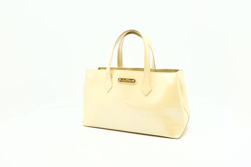 Louis Vuitton Wilshire PM in Vernis Beige Leather