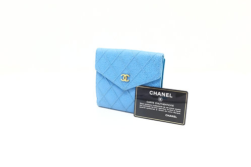buy preloved Chanel Wild Stitch Caviar Compact Wallet