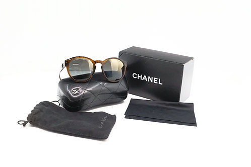 Chanel Sunglasses with Metallic Lenses and Case