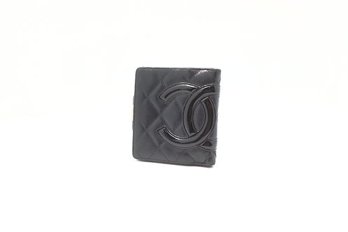 Chanel Cambon Compact Wallet in Black