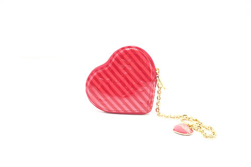 Louis Vuitton Heart Coin Case Rayures Vernis