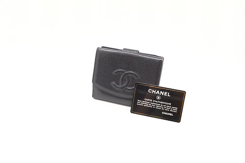 Chanel Coin Case in Black Caviar Leather