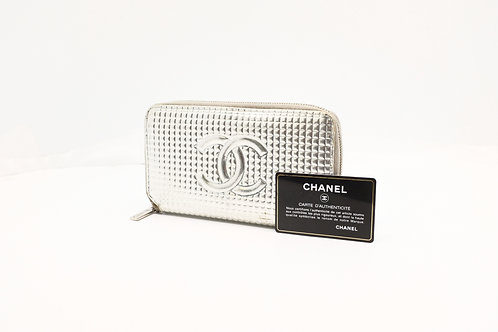 Chanel Embossed Zipped Long Wallet