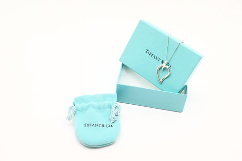 Tiffany & Co. Leaf Heart Charm Necklace
