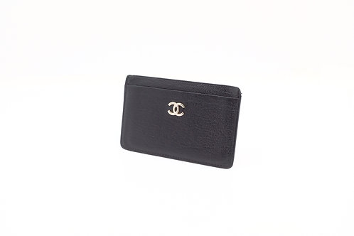 Chanel Textured Calfskin Card Case