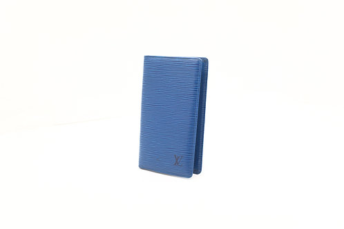 Louis Vuitton Epi Agenda Checkbook Cover in blue