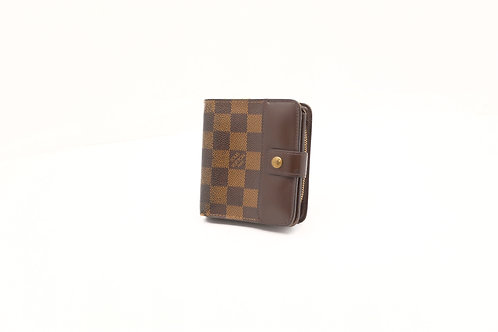 Louis Vuitton Compact Wallet in Damier Ebene Canvas