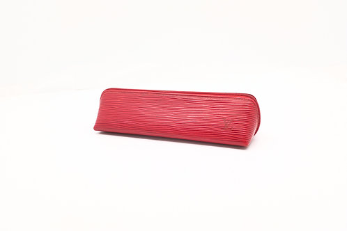 Louis Vuitton Pencil Case in Red Epi Leather