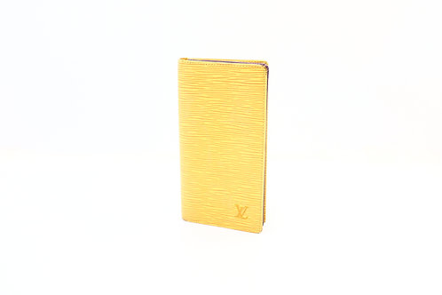 Buy preloved Louis Vuitton Checkbook Cover Epi yellow