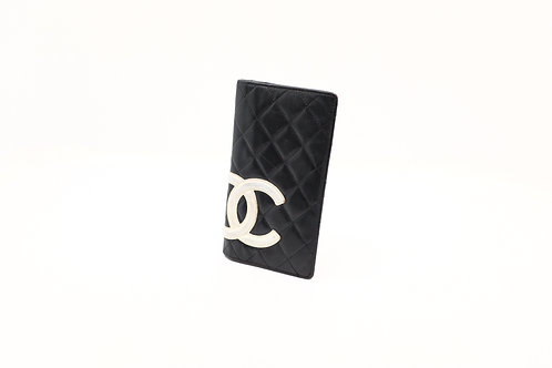 buy preloved Chanel Cambon long wallet black