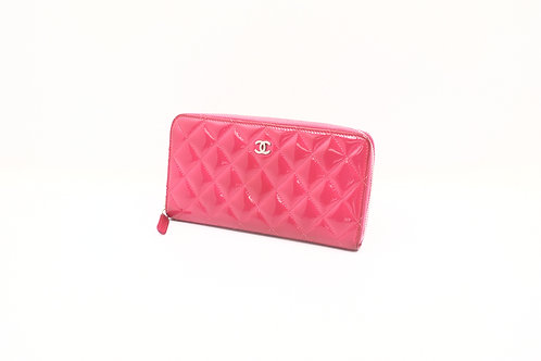 Chanel Matelasse Enamel Long Zipped Wallet