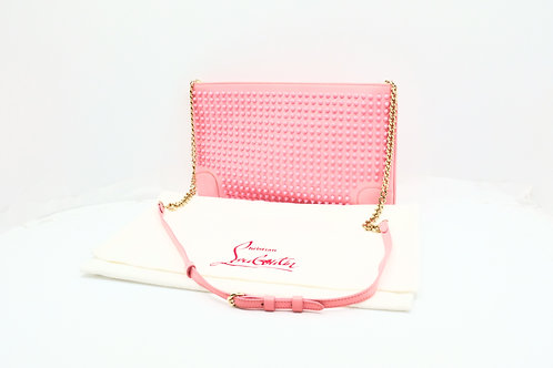 Louboutin 2-Way Bag in Pink Spiked Leather