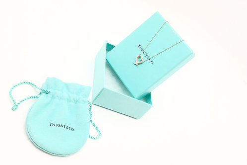 Tiffany & Co. Loving Heart Necklace With Inset Crystal