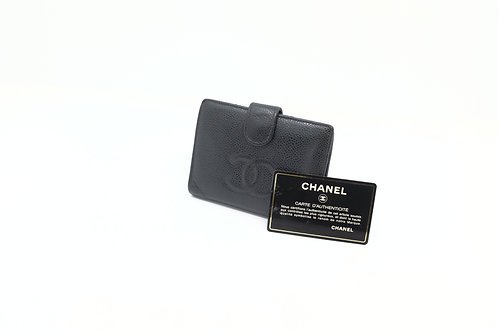 Chanel Timeless Line Compact Snap Bifold Wallet