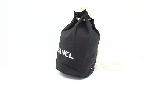 Chanel Novelty Drawstring Pouch Backpack in Cotton Canvas