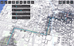 3D Map UX Prototype UI