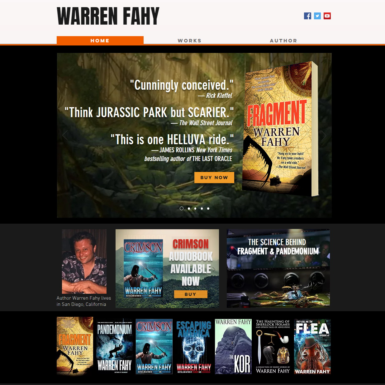 Author Warren Fahy website