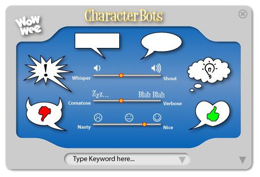 CharacterBot Widget UI