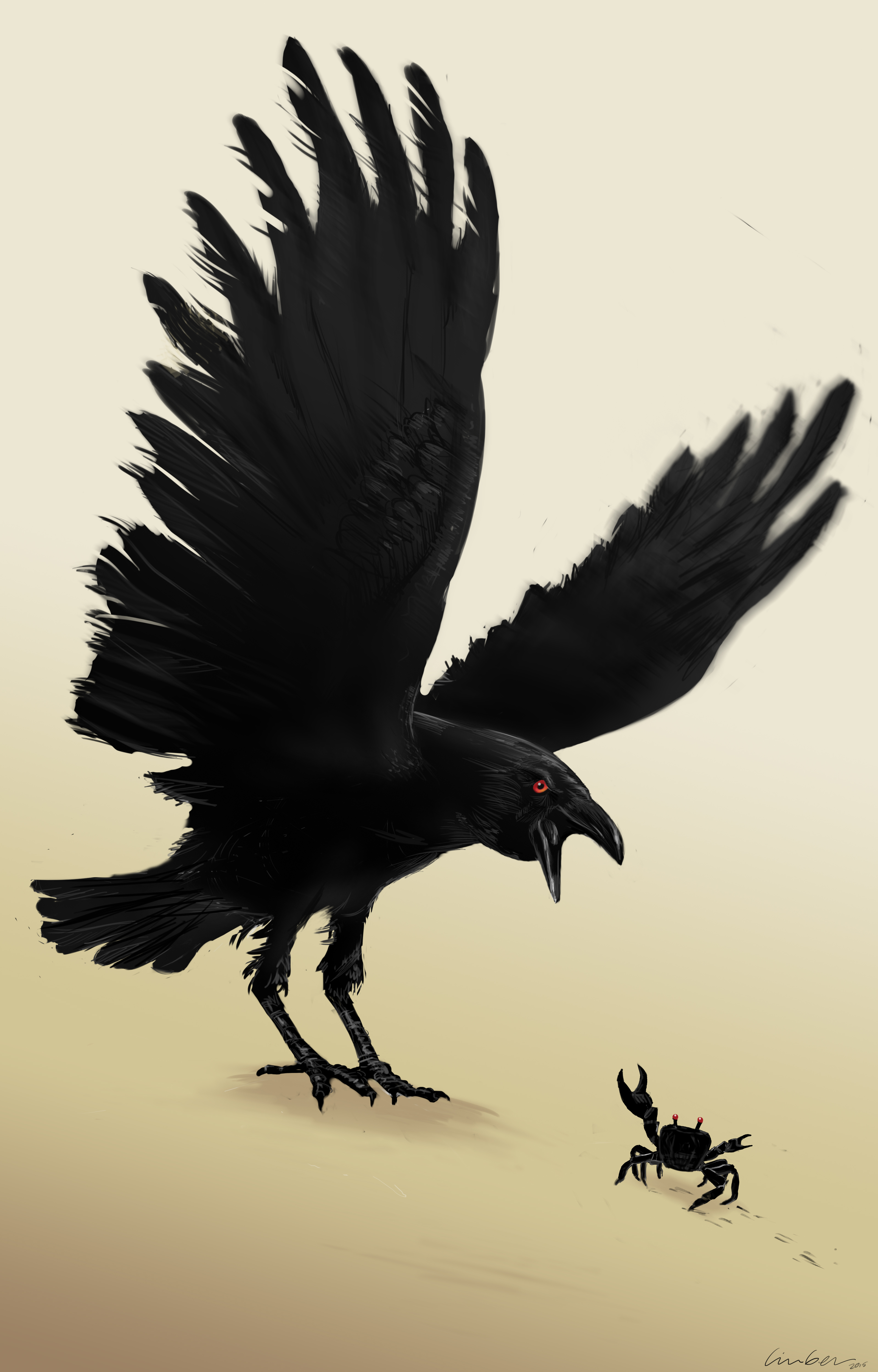 Crab vs. Crow