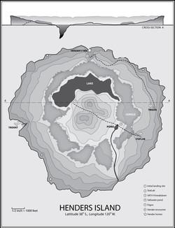 Henders Island Map