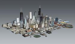 Graphic textured 3D landmarks