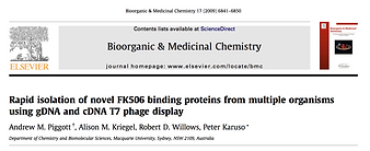 Rapid isolaton of nvel FK506 bindng protens from multiple oganisms using gDNA andcDNA T7 phage display