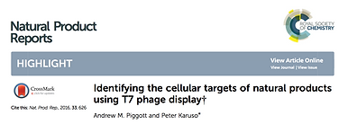 Identifying the cellular targets of natural products using T7 phage display
