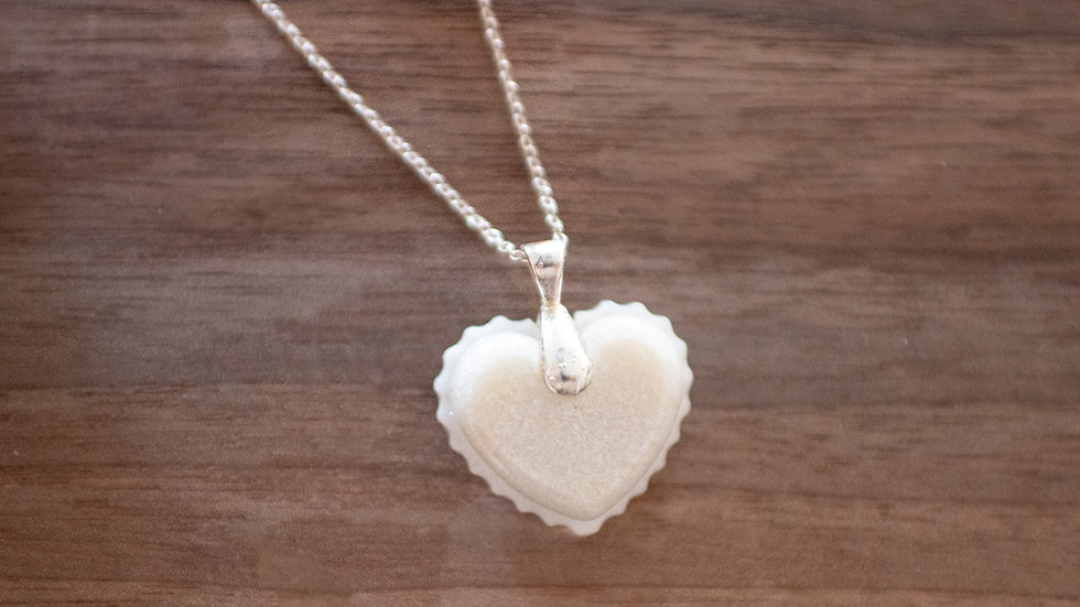 Heartfelt pendant with lace