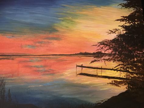 Coucher de soleil à Georgina Island- Ontario