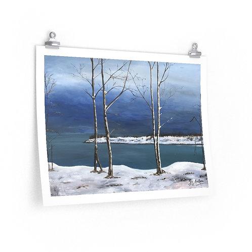 Print- Snow on the Leslie Spit. Joz.2020