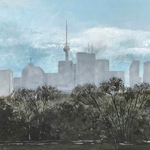 Poudreuse d'avril sur Toronto