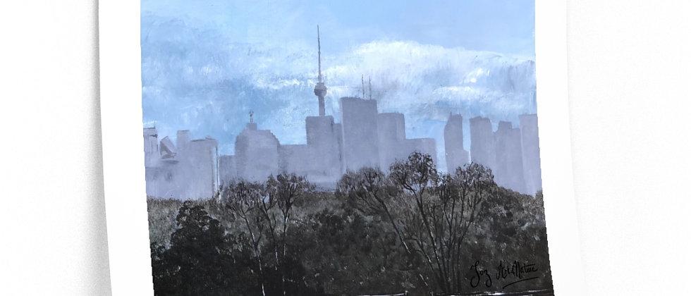Print- First Snow on Toronto.