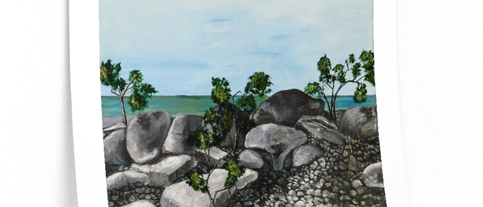 Print- Variations on Rocks, Water and Trees. Joz.2020