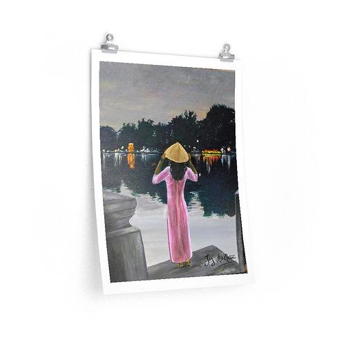 Print- Young Lady at Hoan Kiem Lake.Hanoi. Joz- 2020