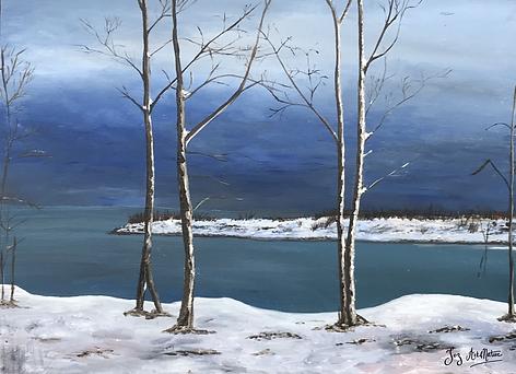 Neige sur le Leslie Spit_ Snow on the Le
