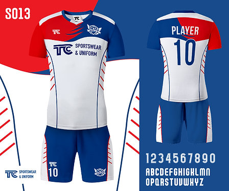 Football / Soccer Jersey 足球衫 (Design Template 參考設計 S013)