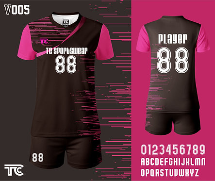 Volleyball Jersey 排球衫 (Design Template 參考設計 V005)