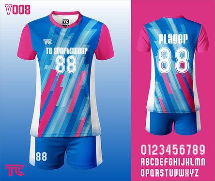 Volleyball Jersey 排球衫 (Design Template 參考設計 V008)