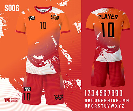 Football / Soccer Jersey 足球衫 (Design Template 參考設計 S006)