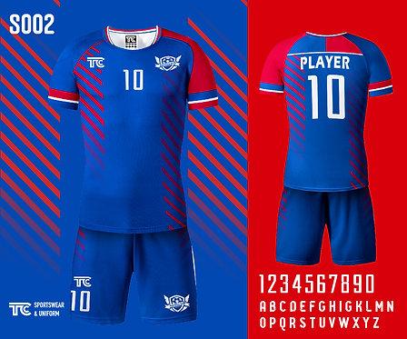 Football / Soccer Jersey 足球衫 (Design Template 參考設計 S002)
