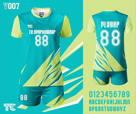 Volleyball Jersey 排球衫 (Design Template 參考設計 V007)