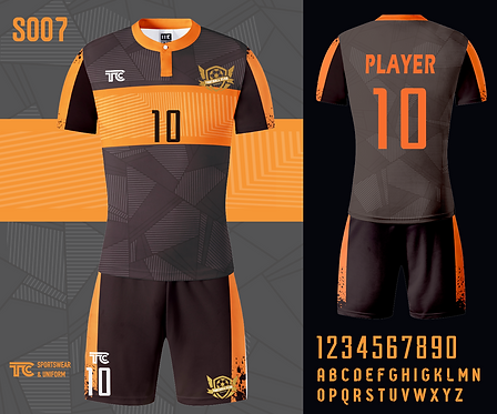 Football / Soccer Jersey 足球衫 (Design Template 參考設計 S007)