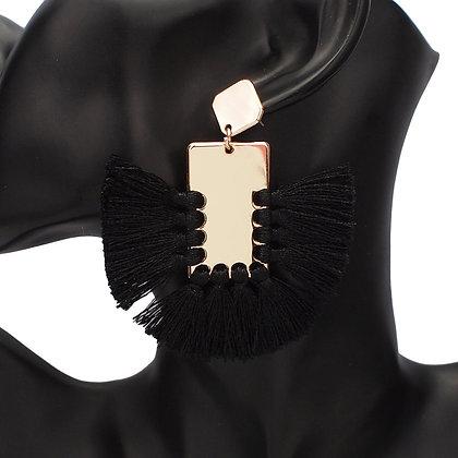 Bohemian Wide Tassel Earrings