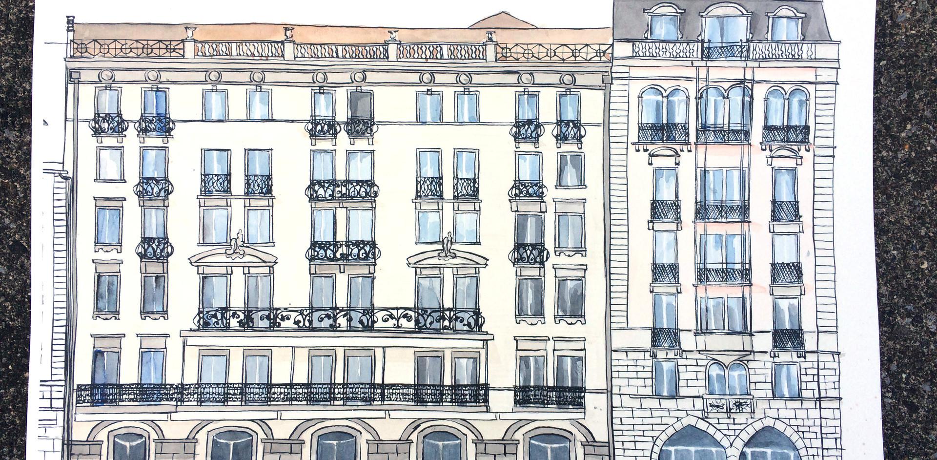 Kolorierte Fassade