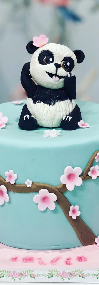 Panda sur cake