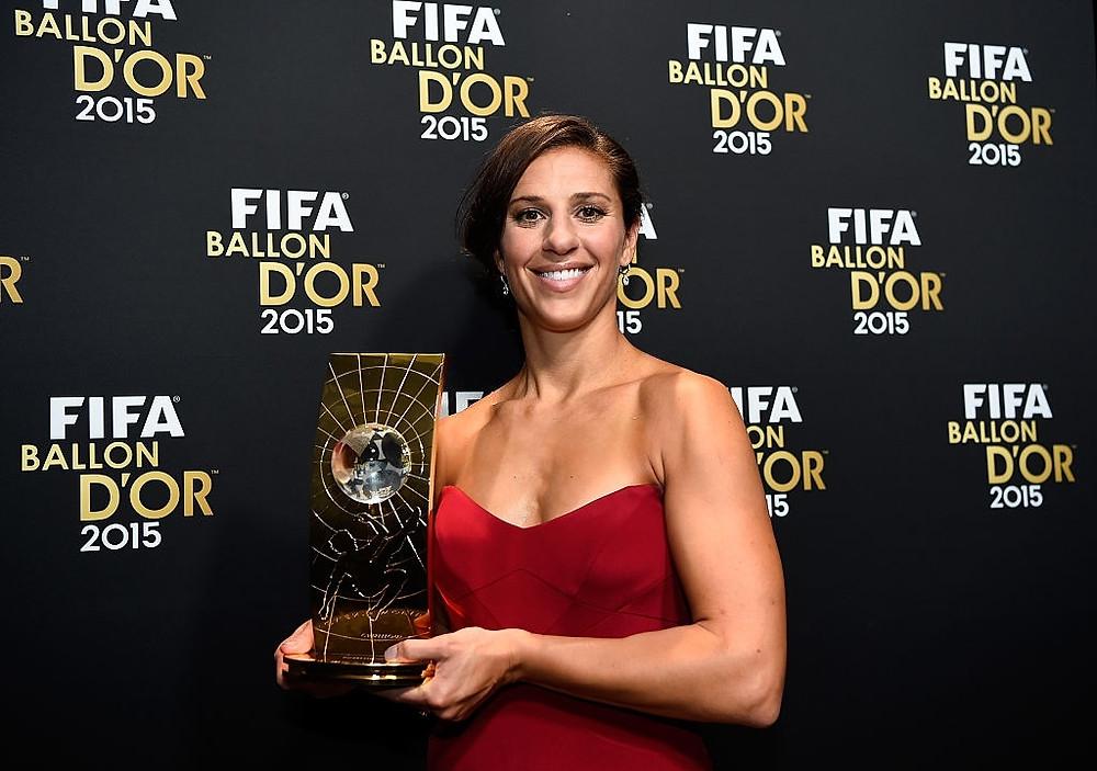Carli Lloyd . FIFA Player of the Year - FIFA - Ballon D'Or gala