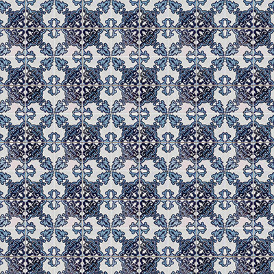 Deep Blue Mosaic #9
