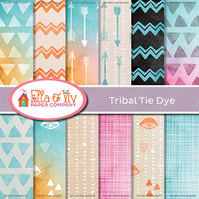 Tribal Tie Die Collection